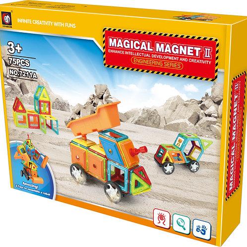 75 Pcs MAGNETIC BLOCK ENGINEERING CAR