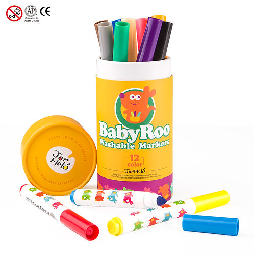 Baby Roo - Washable Markers 12 pcs