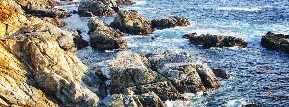 The rugged coastline of California