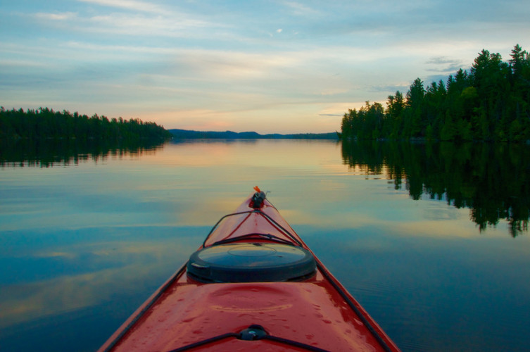 Tranquility of a summer night's paddle