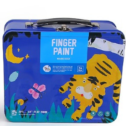 Childrens Finger Paint Kit - Blue
