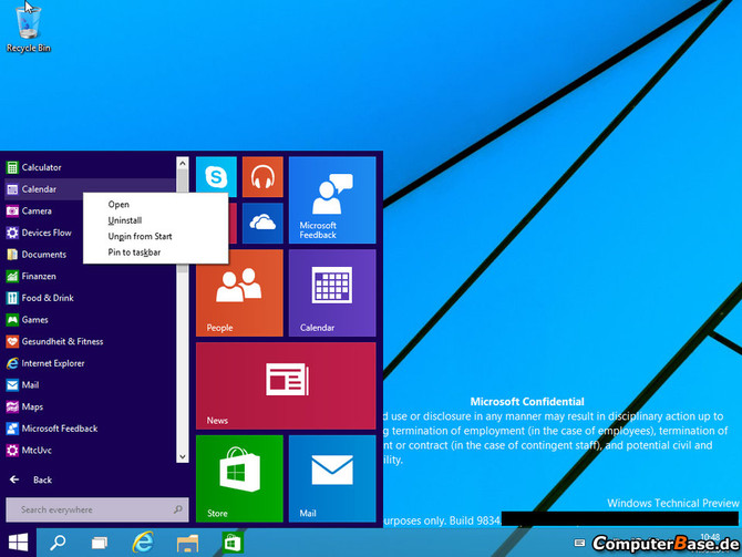 Windows 9, διαρροές screenshots και videos