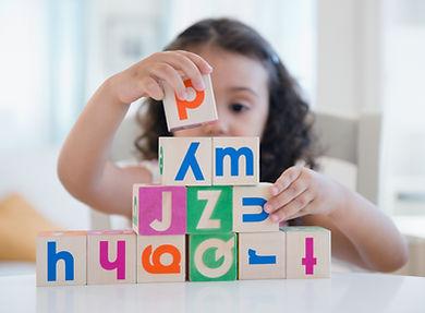 Language Therpist and child