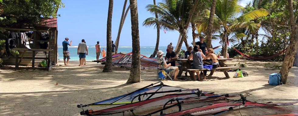 Local accueil plage