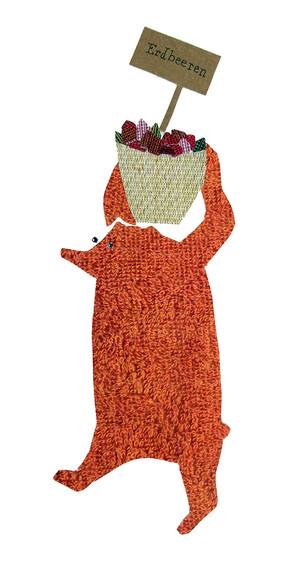 Sabine Rufener Illustration Kinderbuch Collage Bären Beeren Erdbär