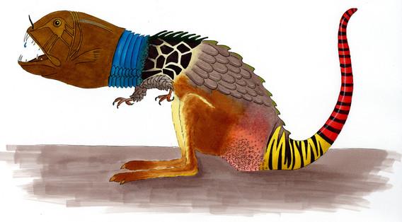 Sabine Rufener Illustration Kinderbuch Marker Mix-Monster Viecher Biest