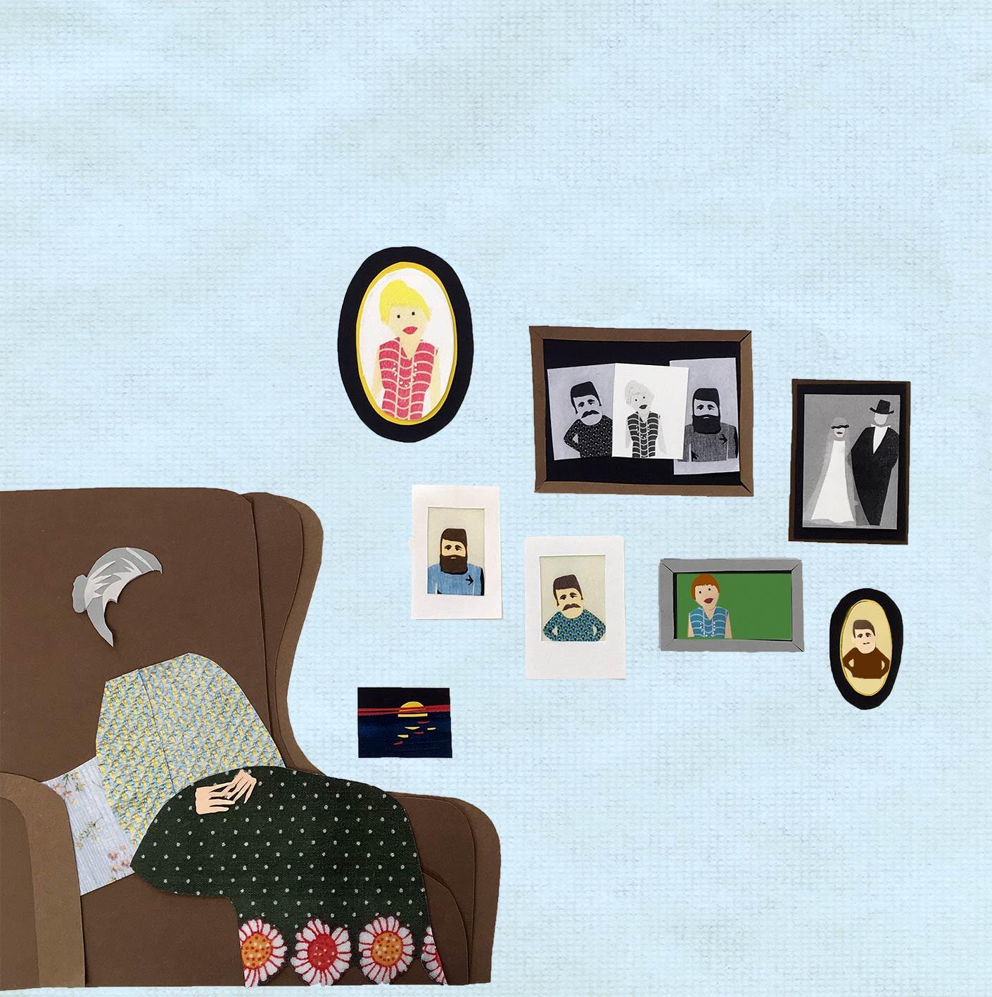 Sabine Rufener Illustration Kinderbuch Demenz Collage