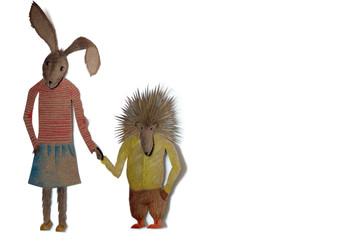 Sabine Rufener Illustration Kinderbuch Collage Märchen kultur@moosseedorf Hase und Igel
