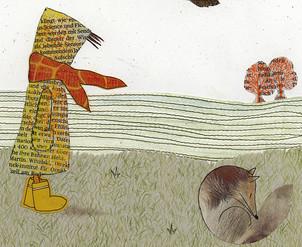 Sabine Rufener Illustration Kinderbuch Collage Fuchs Tollwut