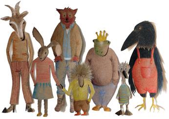 Sabine Rufener Illustration Kinderbuch Collage Märchen kultur@moosseedorf