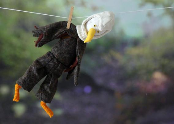 Sabine Rufener Illustration Kinderbuch Textil Stofftier Unikat Adler