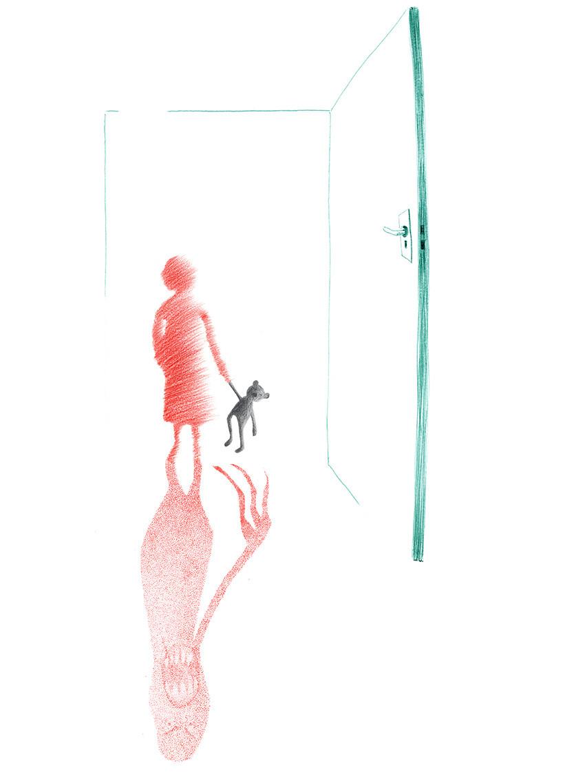 Sabine Rufener Illustration Kinderbuch Einsamkeit Angst Kugelschreiber