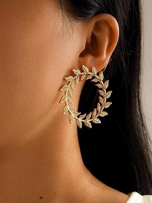 boucles d'oreilles créoles fleurs dorées