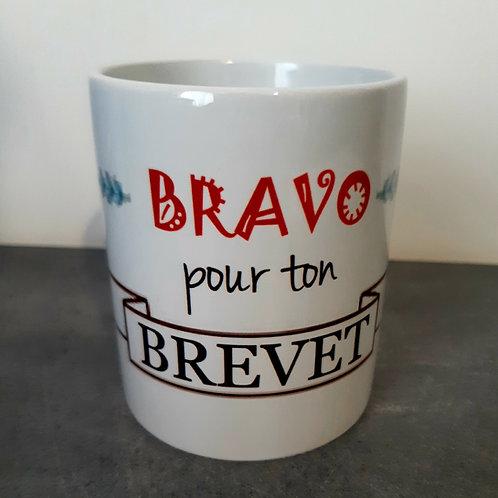 "Mug ""Bravo pour ton Brevet"""