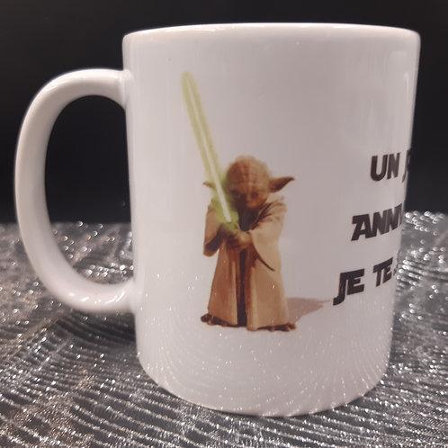 Mug Star Wars Anniversaire Yoda