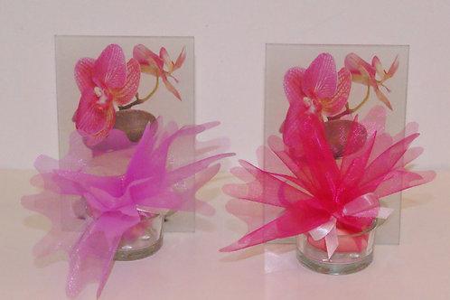 Porte bougie orchidée en verre