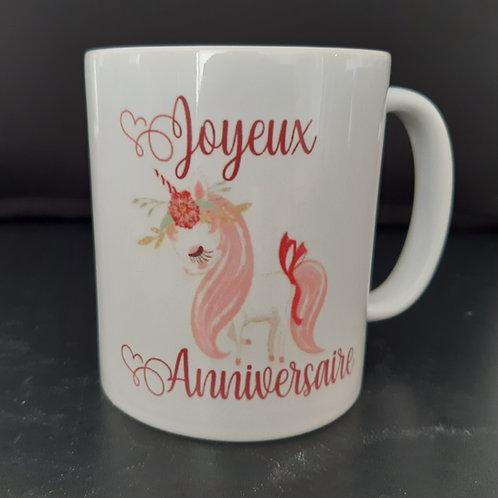 Mug Licorne Joyeux Anniversaire