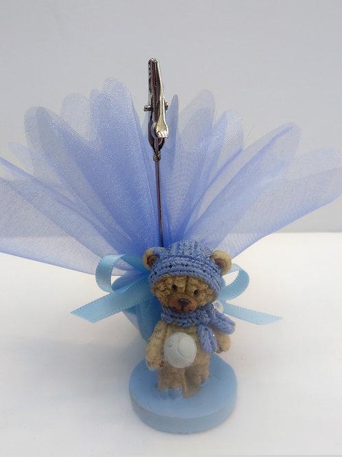 Pince ourson bonnet bleu