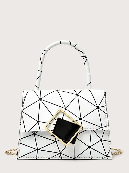Mini sac graphique blanc
