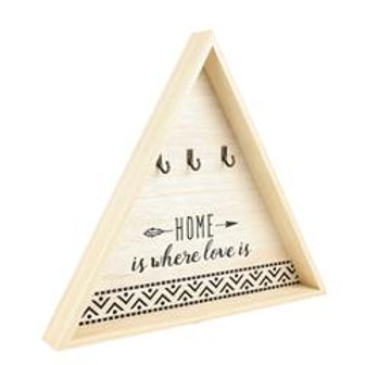 Accroche clés bois triangle