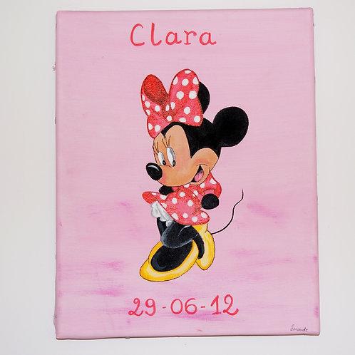 Toile Minnie peinte à la main