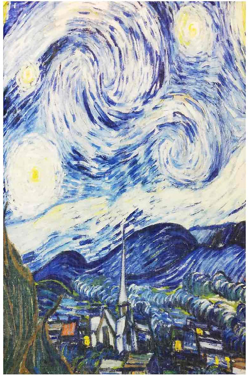 "Echarpe ""Nuit étoilée "" de Van Gogh"