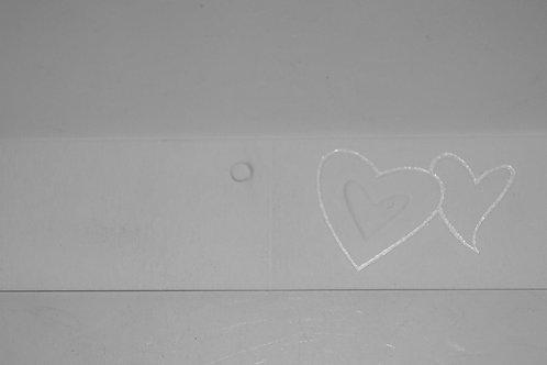 Etiquettes coeur blanc