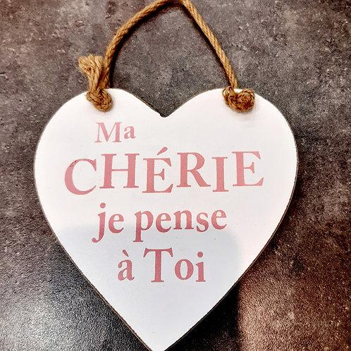 "Coeur en bois ""Ma chérie"""