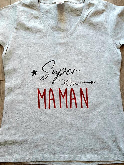 """Tee shirt Femme """"Super Maman"""""""