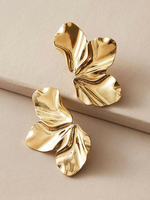 Boucles d'oreilles martelées dorées