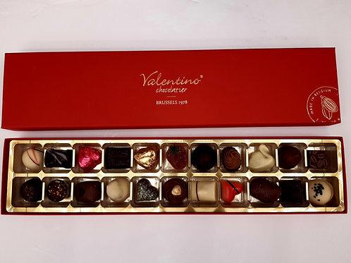 Coffret prestige Valentino rectangulaire / 22 chocolats