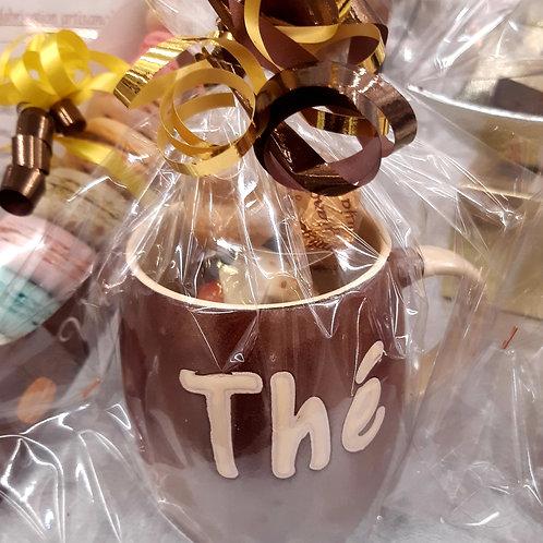 """Mug cuivré """"Thé"""" avec 100 grs de chocolats"""