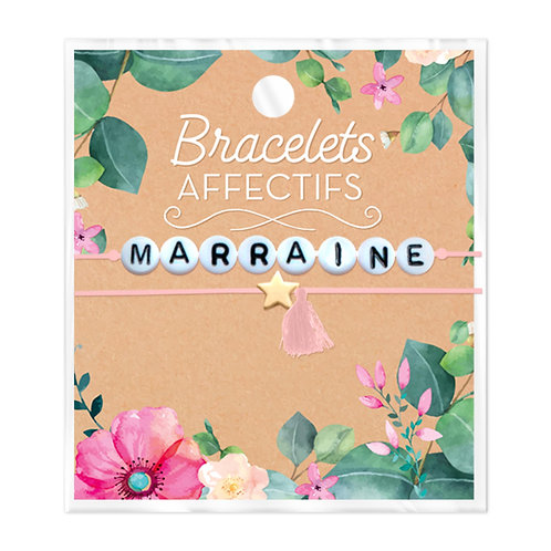 Bracelet perles Marraine