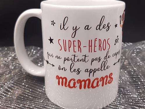 """Mug """"Maman super Héros"""""""