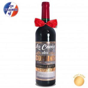 """Bouteille Vin """" Cuvée des copains"""""""