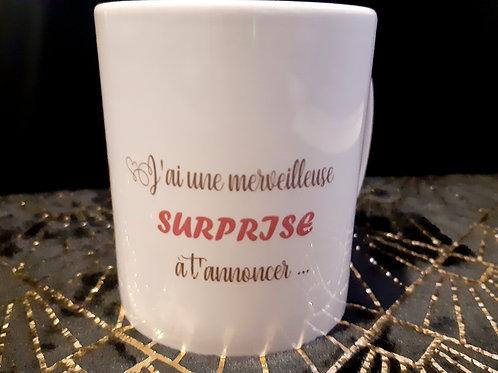 Mug Surprise, tu vas être mamie!