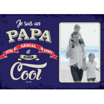 Cadre en fer Papa Cool