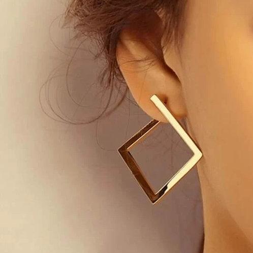 Boucles d'oreilles losanges dorés