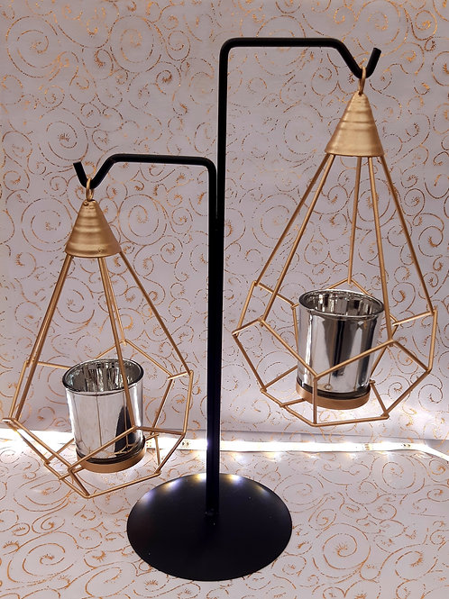 Bougeoir double lanternes