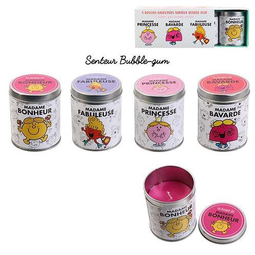Coffret parfumées 4 bougies Mr Mme
