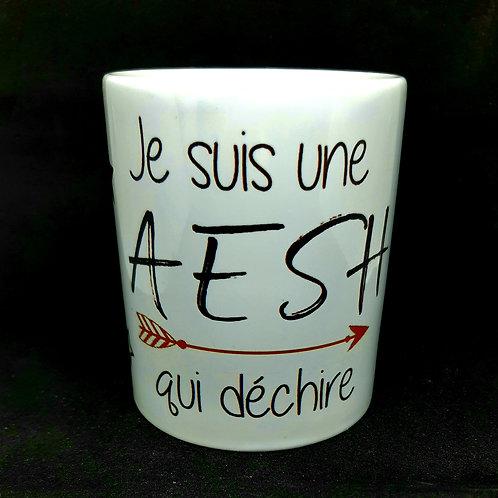 """Mug  """"AESH qui déchire"""""""
