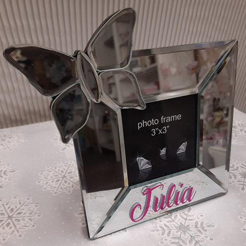 cadre papillon en verre personnalisé