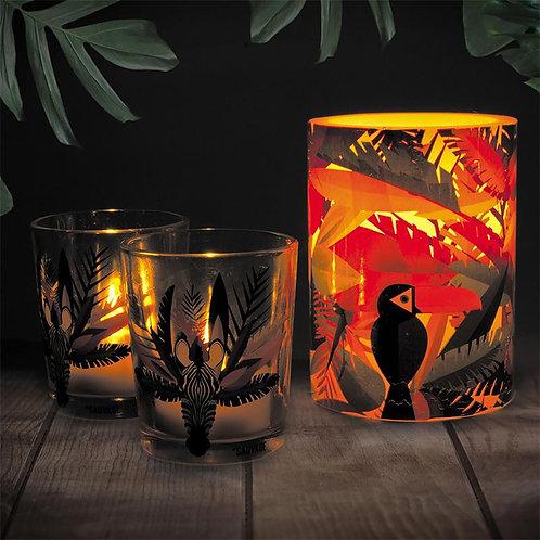 Set bougies et photophores jungle