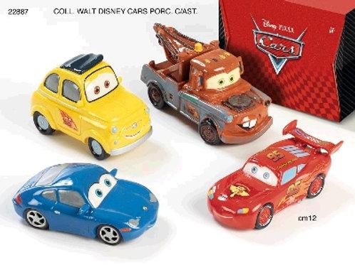 Lot de 4 voitures CARS en porcelaine fine