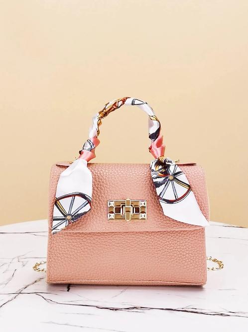 Mini sac rose et foulard