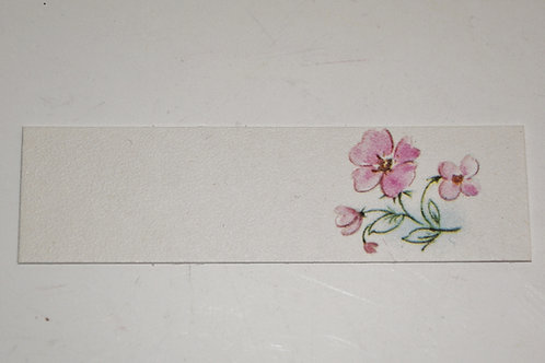 Etiquette fleur rose
