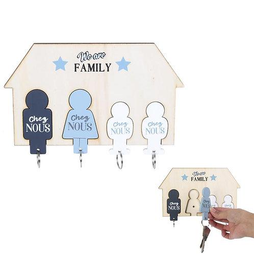 Accroche clés famille