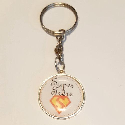 """Porte clé """"Super Frère"""""""