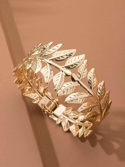 bracelet feuilles dorées