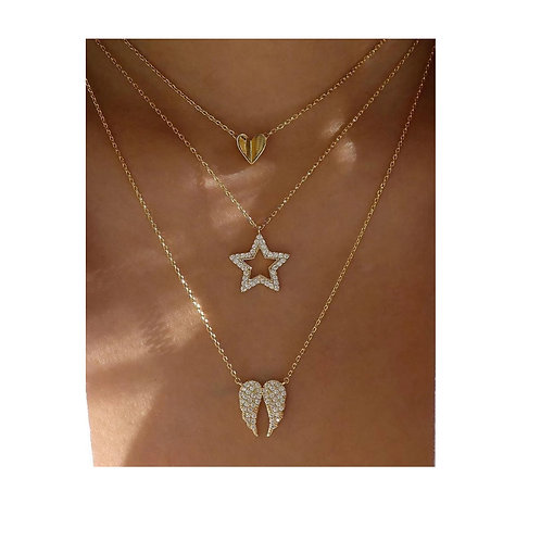collier ailes d'ange 3 rangs